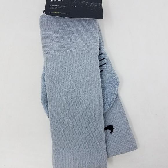f5cf51a8314e2 Nike Elite Vapor Crew Football Socks Grey Men Sz L NWT